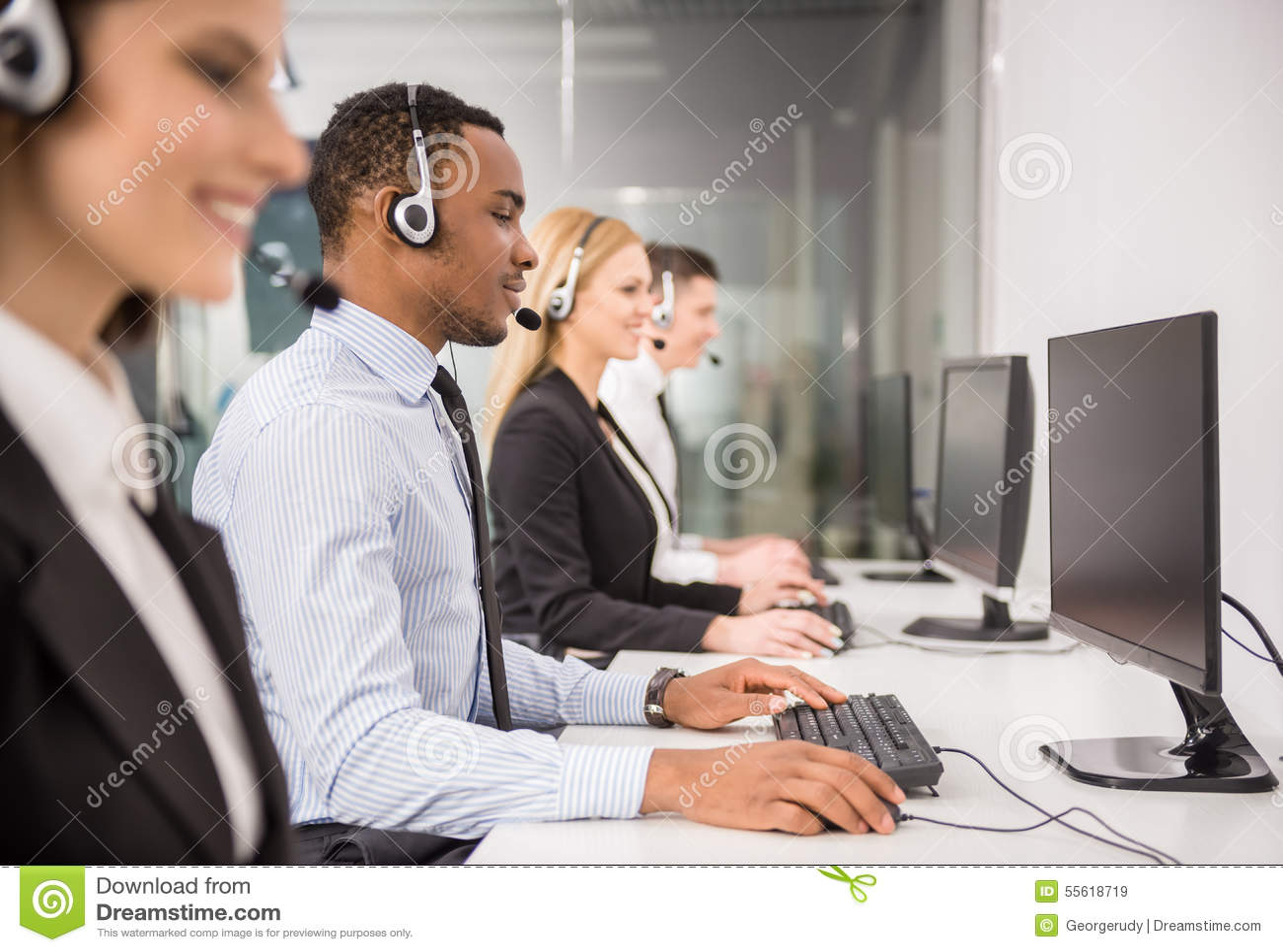 Call Center Stock Image Image Of Communication