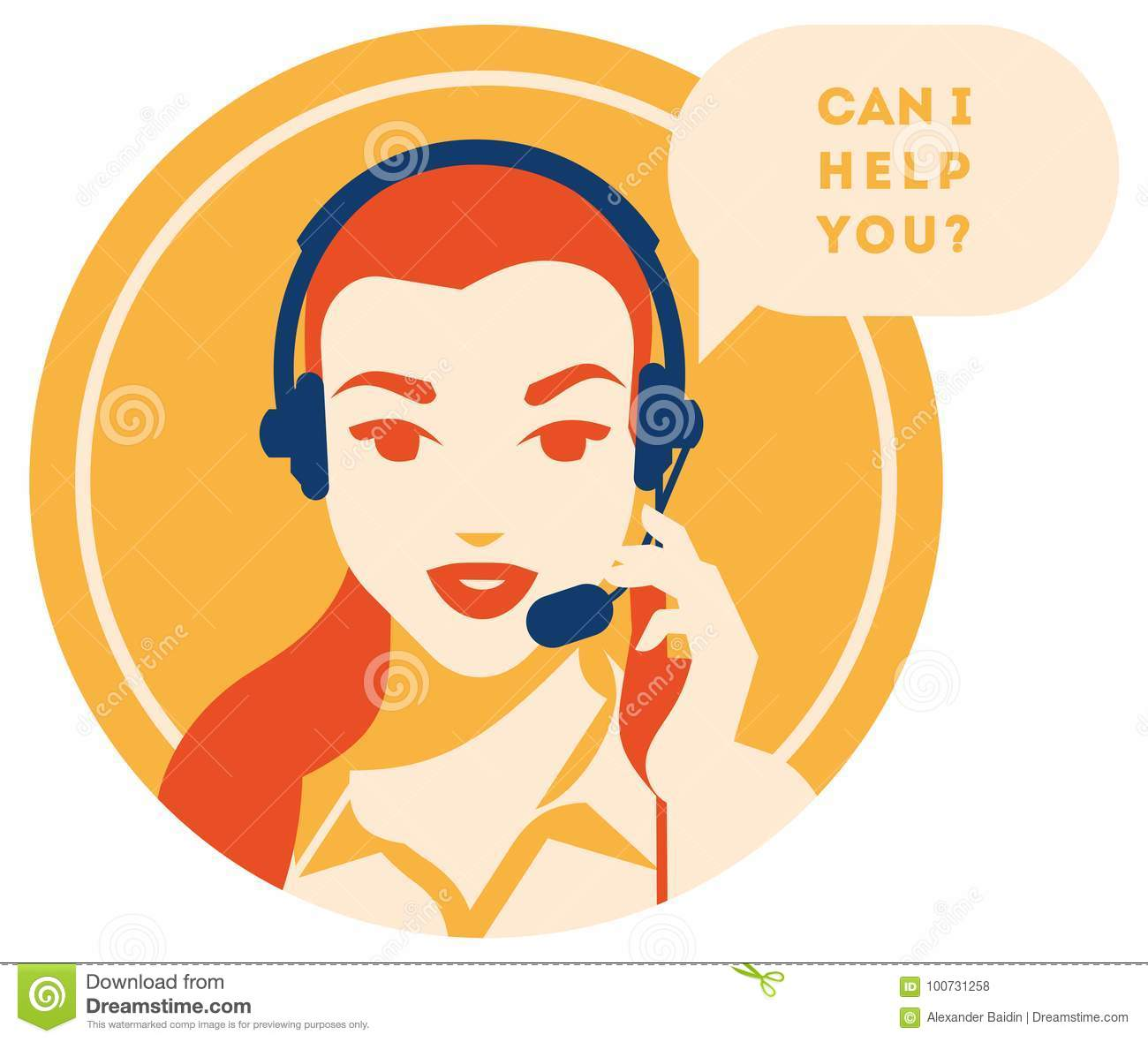 Call Center Operator With Headset Icon Client Services