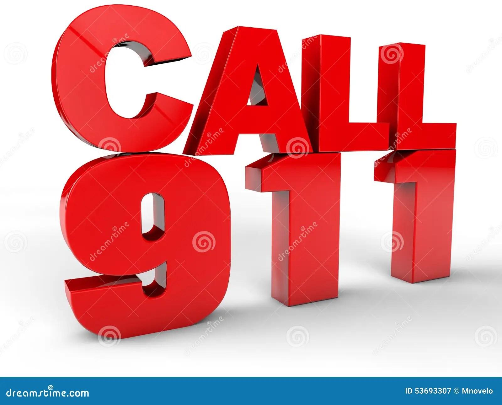 Call 911 Stock Illustration