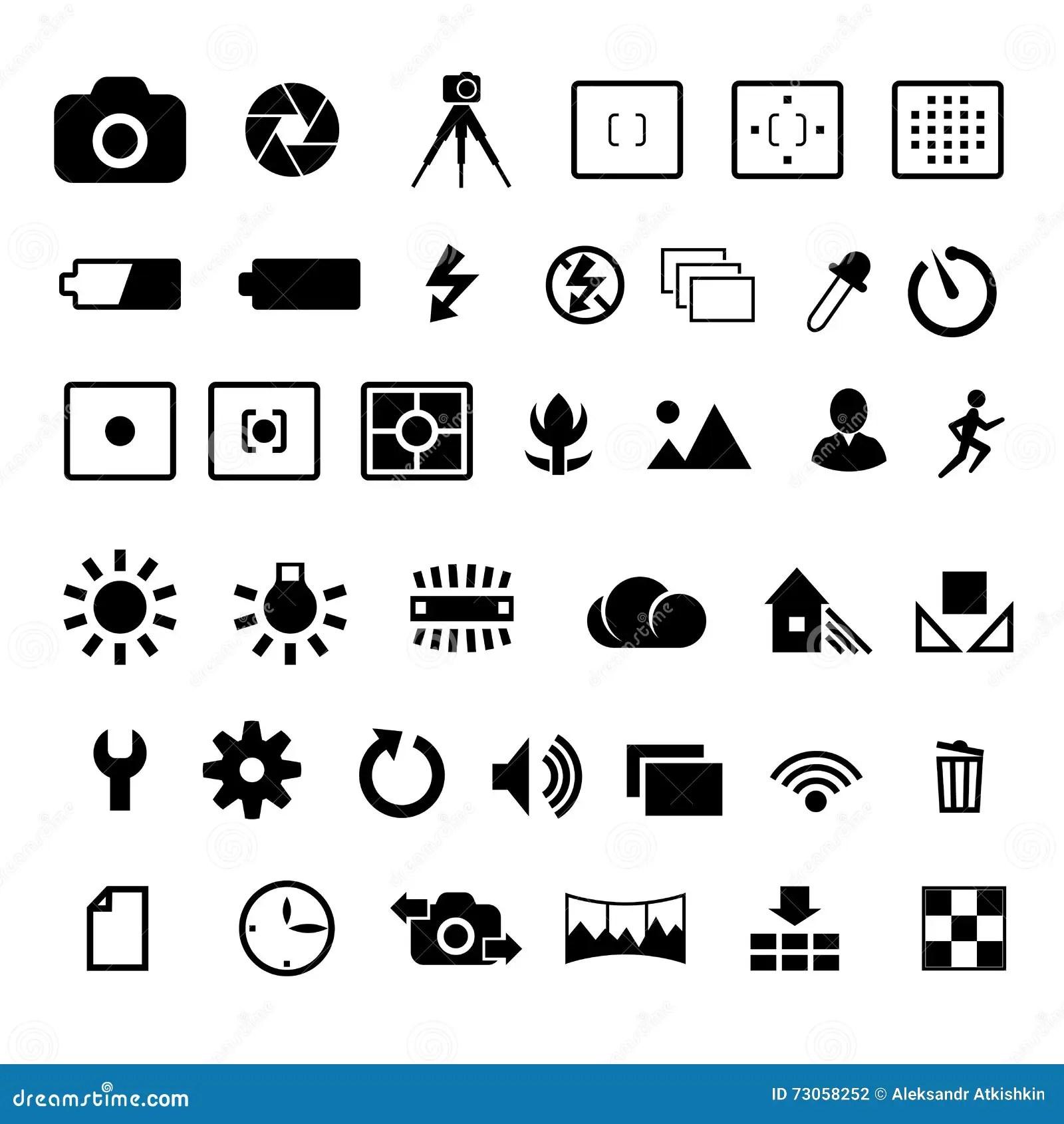 Camera Settings Icon Vector Illustration