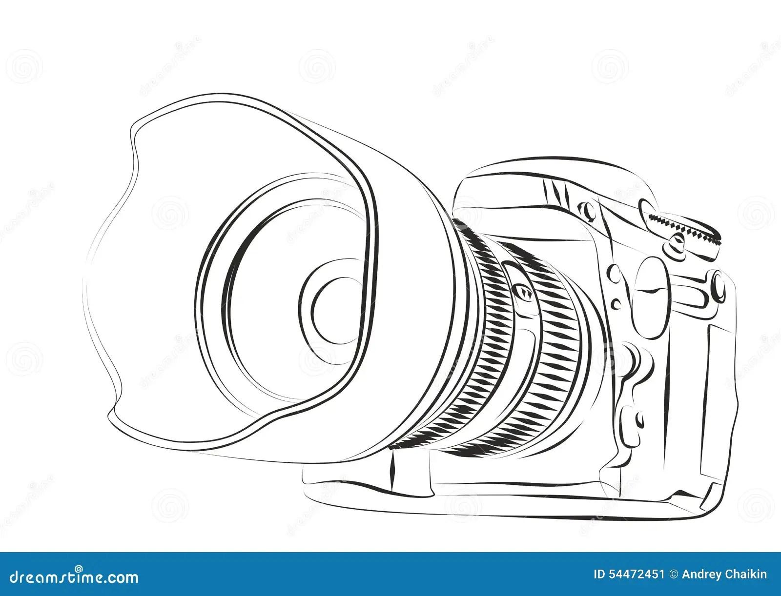 Camera Stock Vector Image Of Drawing Logo Sign