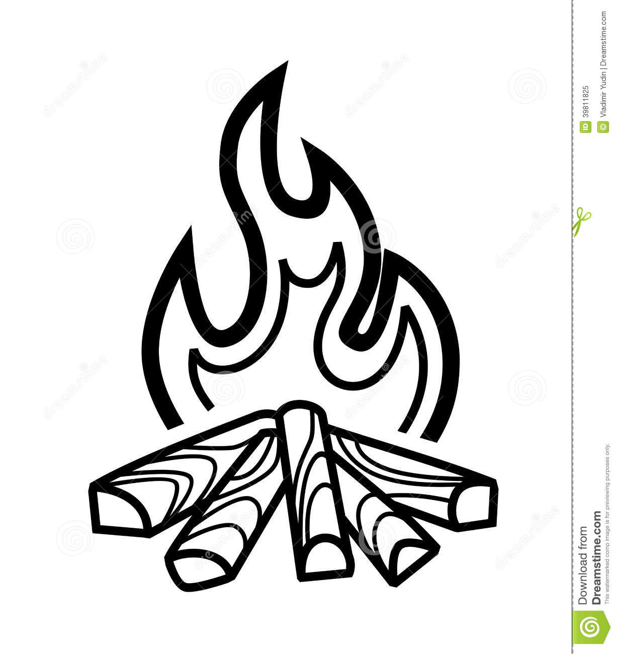 Campfire Icon Stock Vector Illustration Of Flame Vector