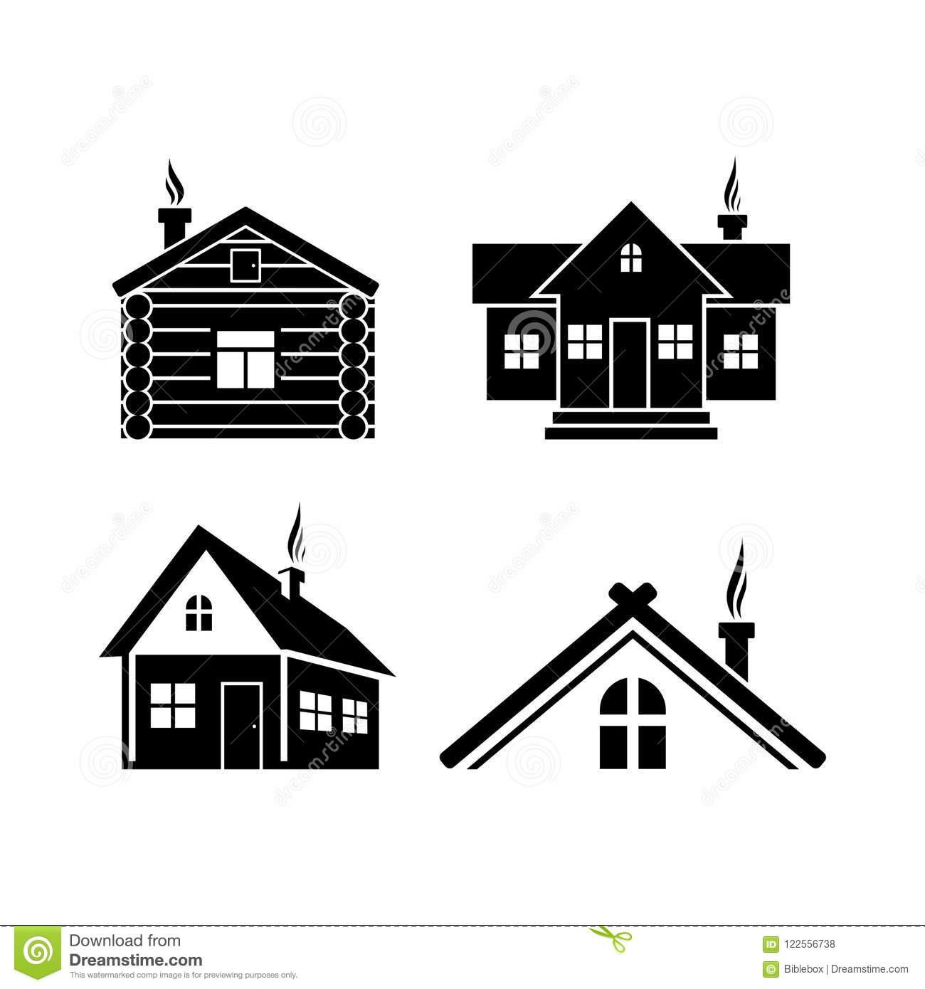 Cottage In The Woods Cartoon Vector