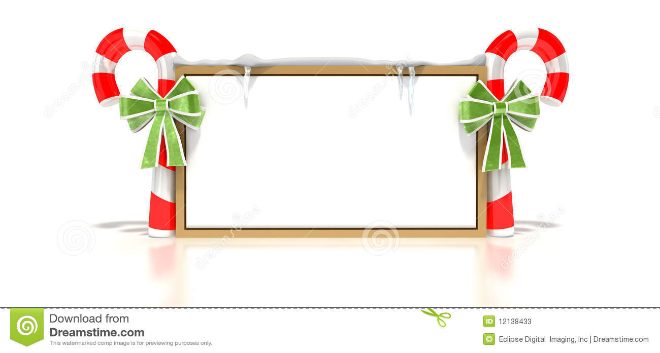 Candy Cane Blank Sign Stock Photos Image 12138433