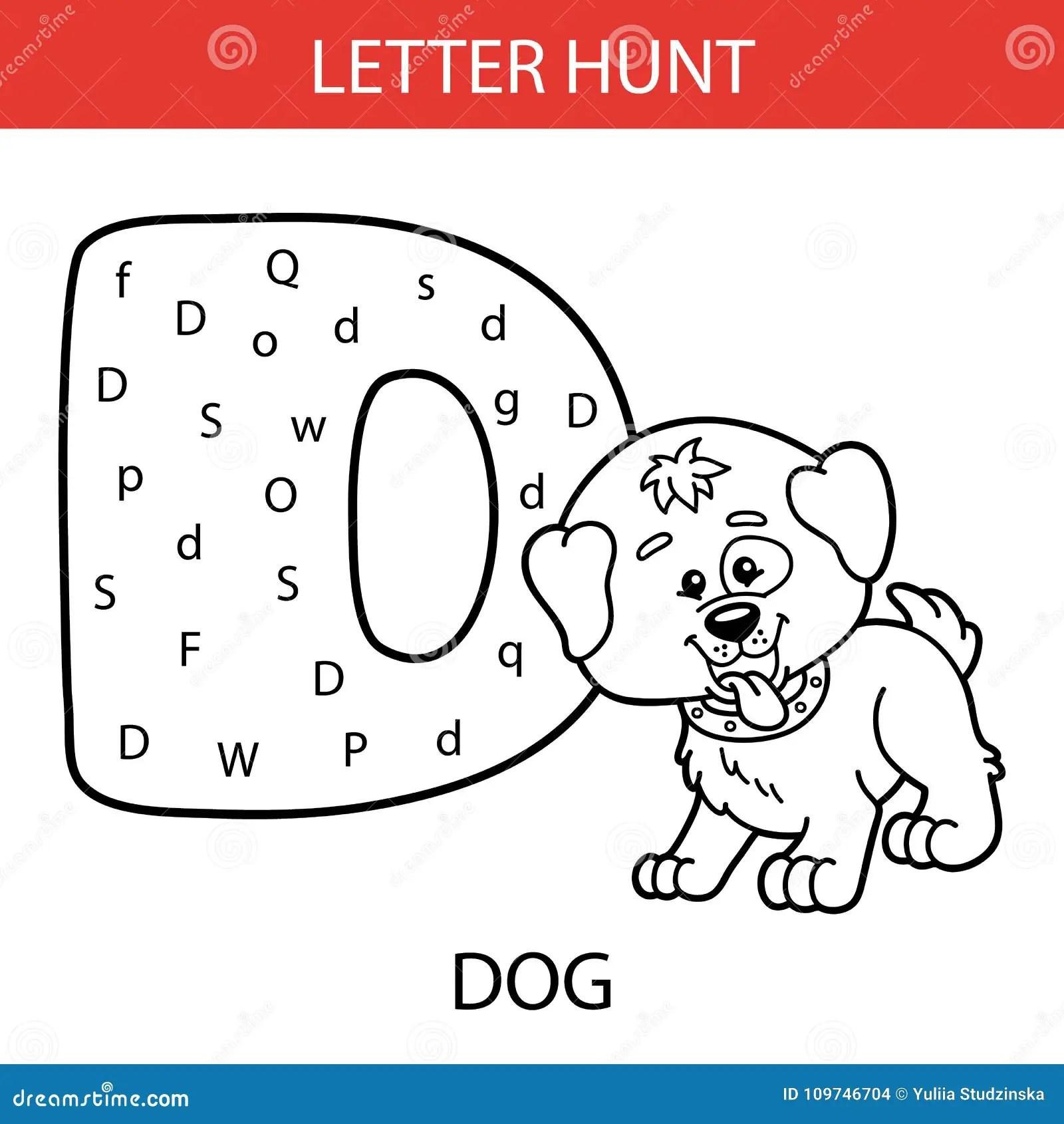 Cane Animale Di Caccia Della Lettera Illustrazione