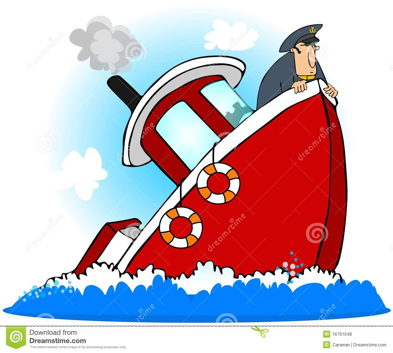 Capitano Of A Sinking Ship Illustrazione Di Stock
