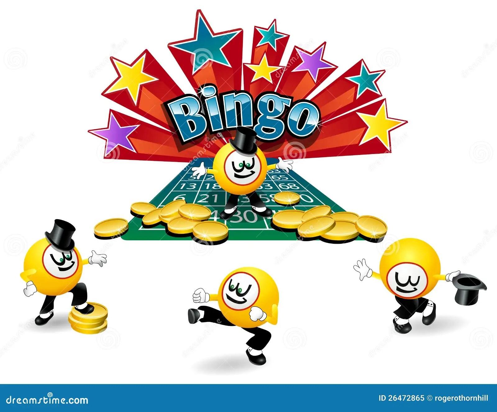 Caracter De La Bola Del Bingo Ilustracion Del Vector