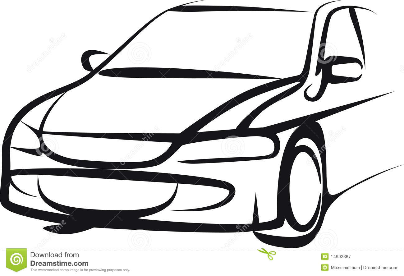 Car Stock Vector Illustration Of Drive Vehicle Sport
