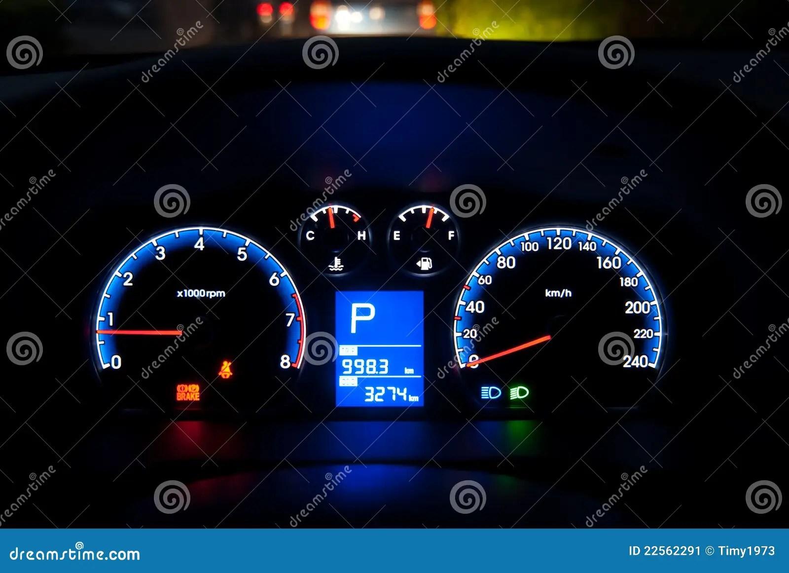 Car Instrument Panel Stock Image