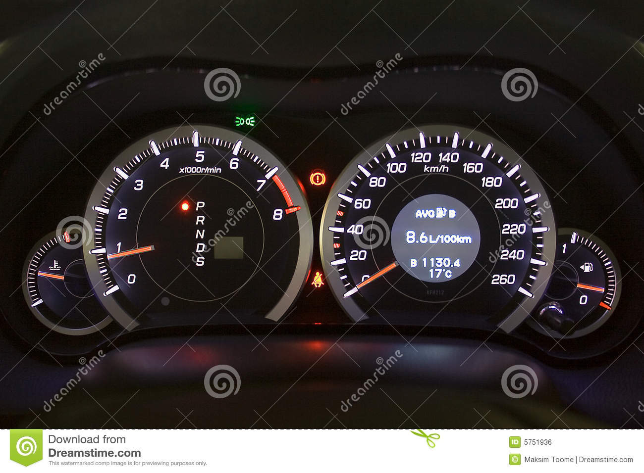 Car Instrument Panel Stock Photo Image Of Dial Auto