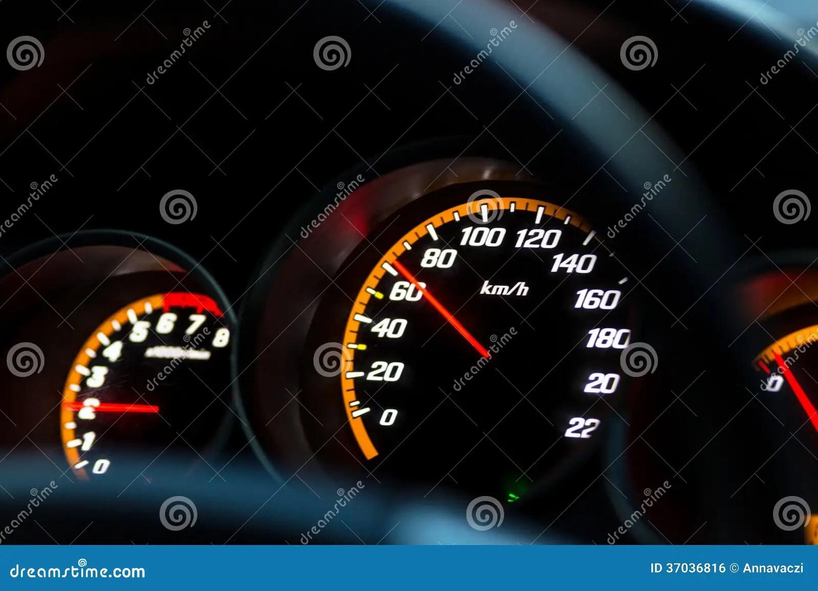 Car Instrument Panel Stock Photo Image Of Measurement