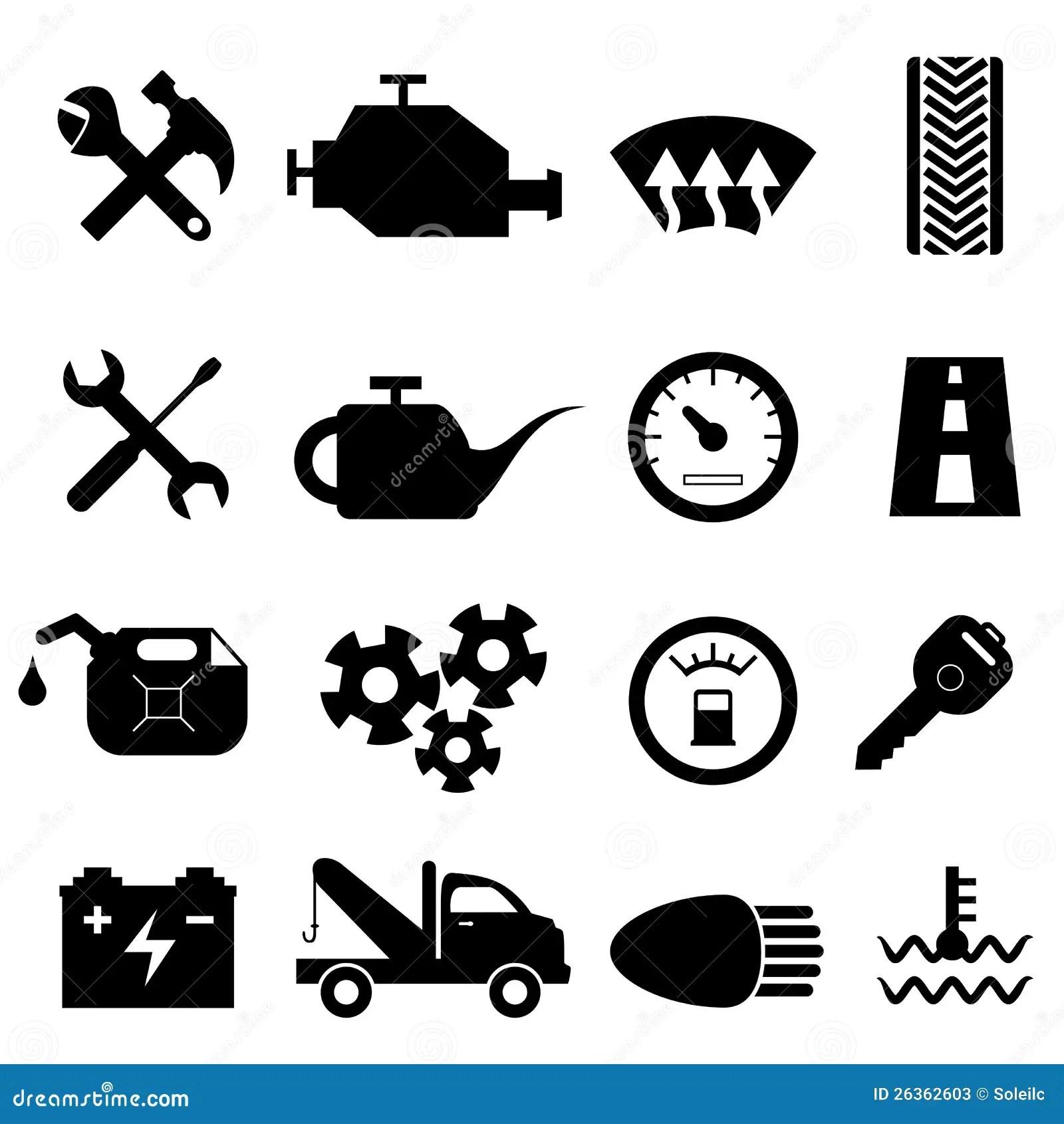 Car Maintenance And Repair Icons Stock Photos