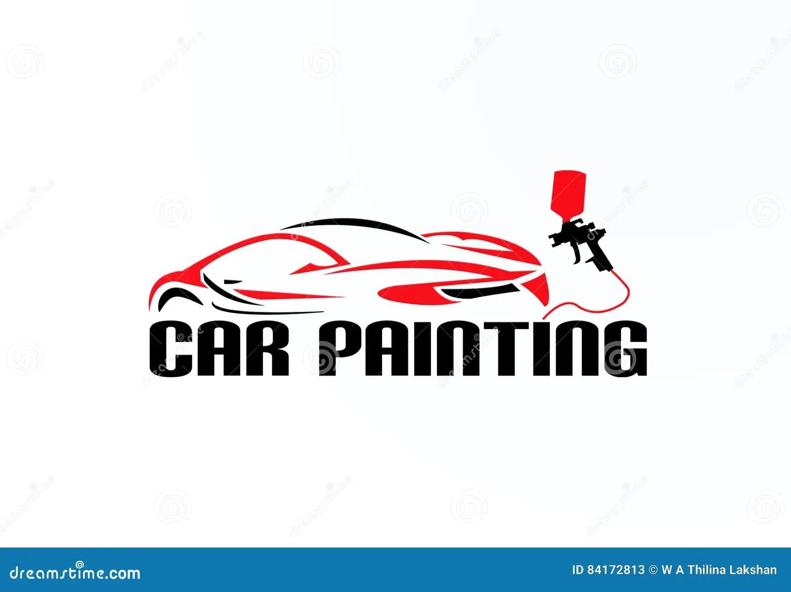 Car Painting Logo Vector Design Stock Vector