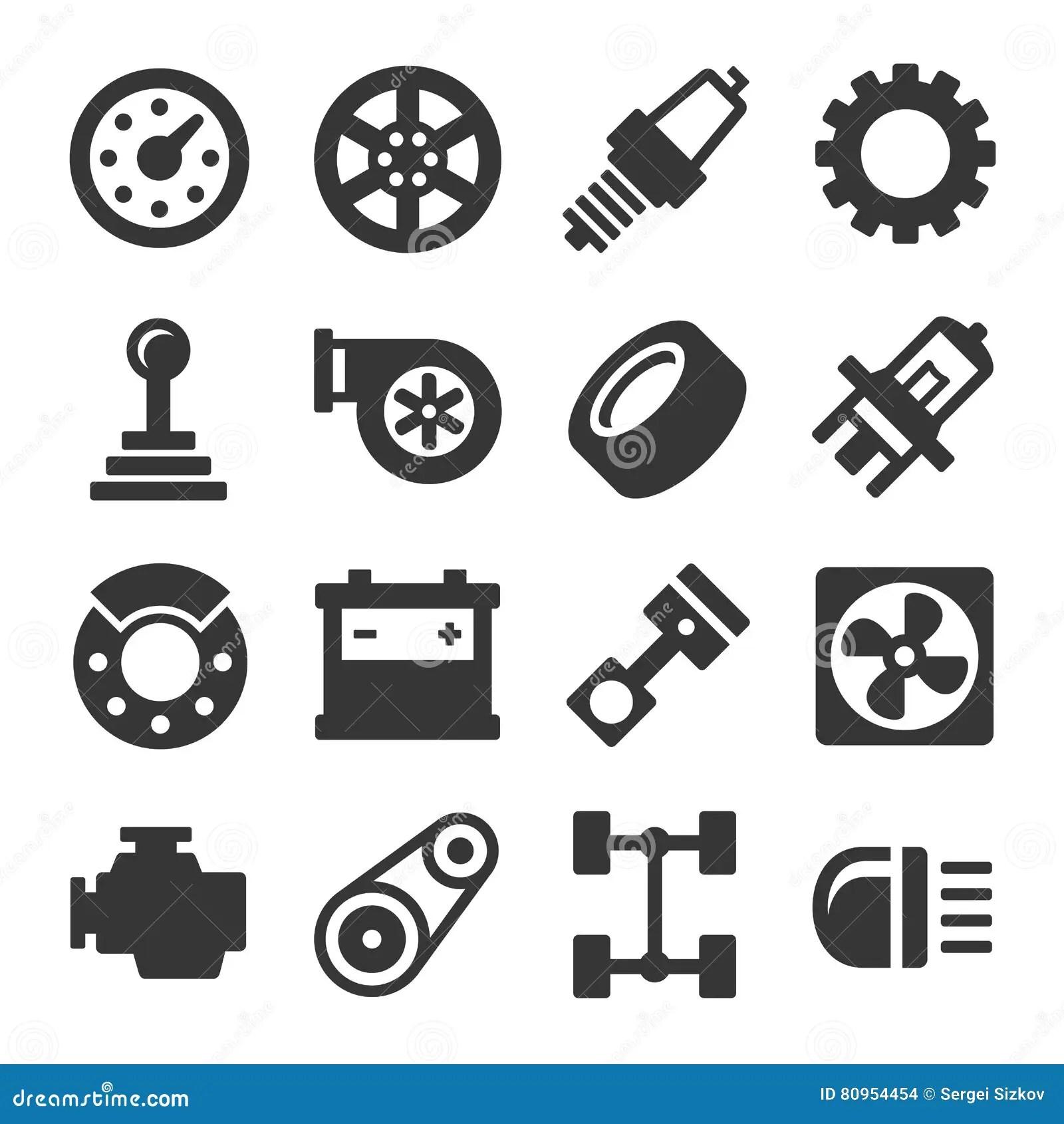 Cartoon Of Car Engine Parts