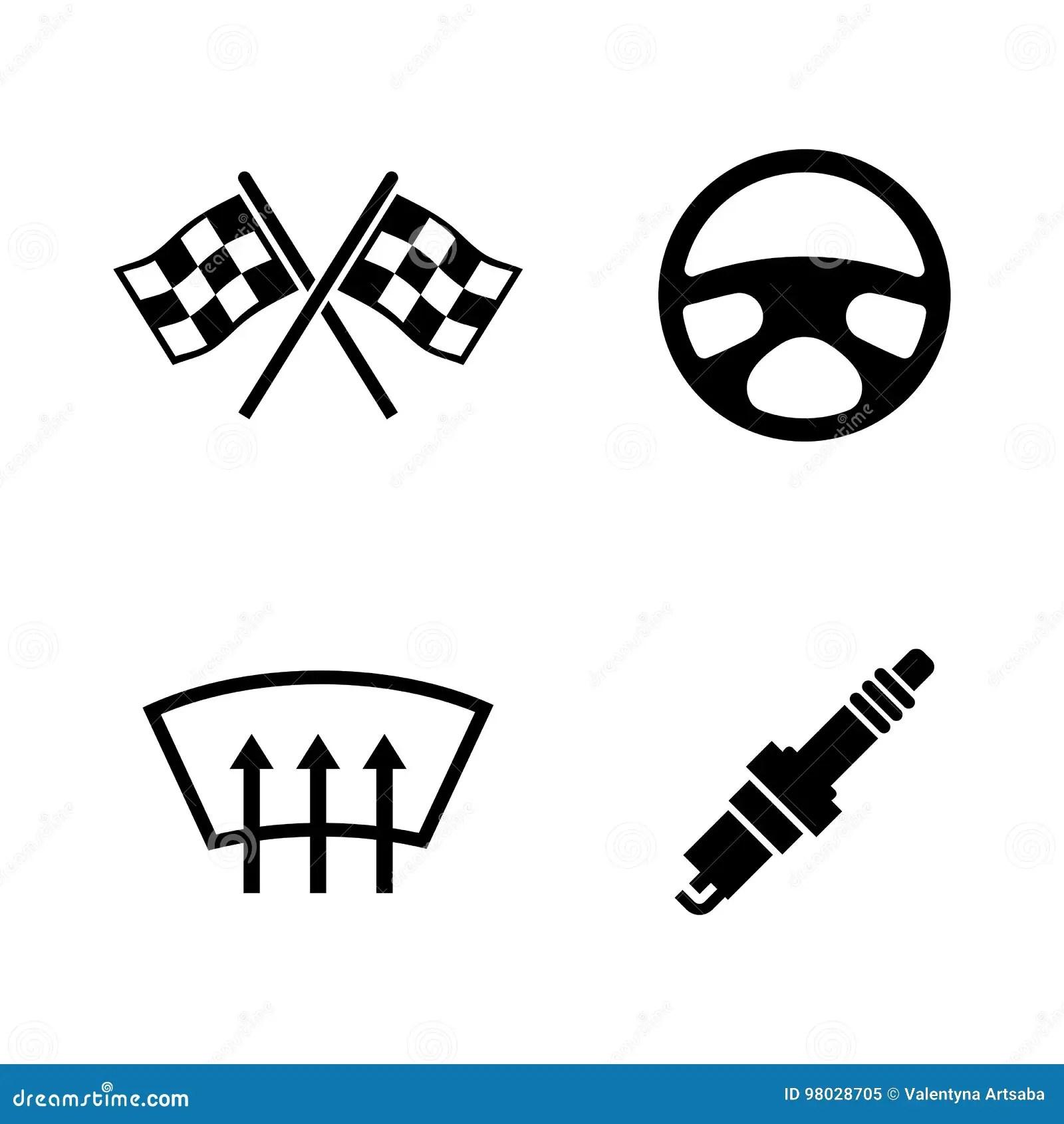 Speedometer Icons Set Flat Style Vector Illustration