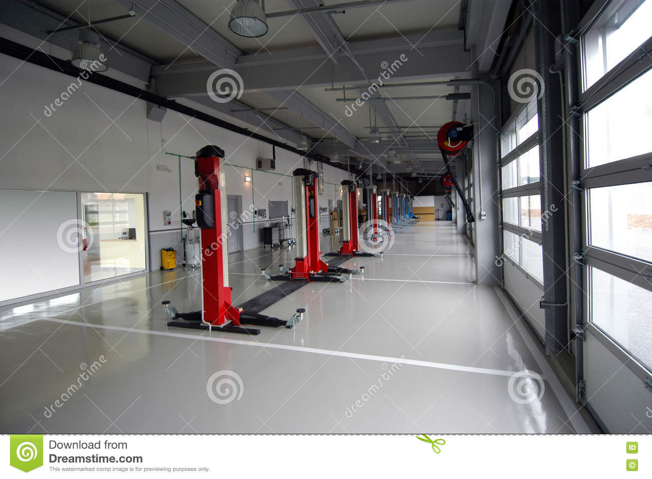 Car Repair Garage Autoservice Stock Image Image Of