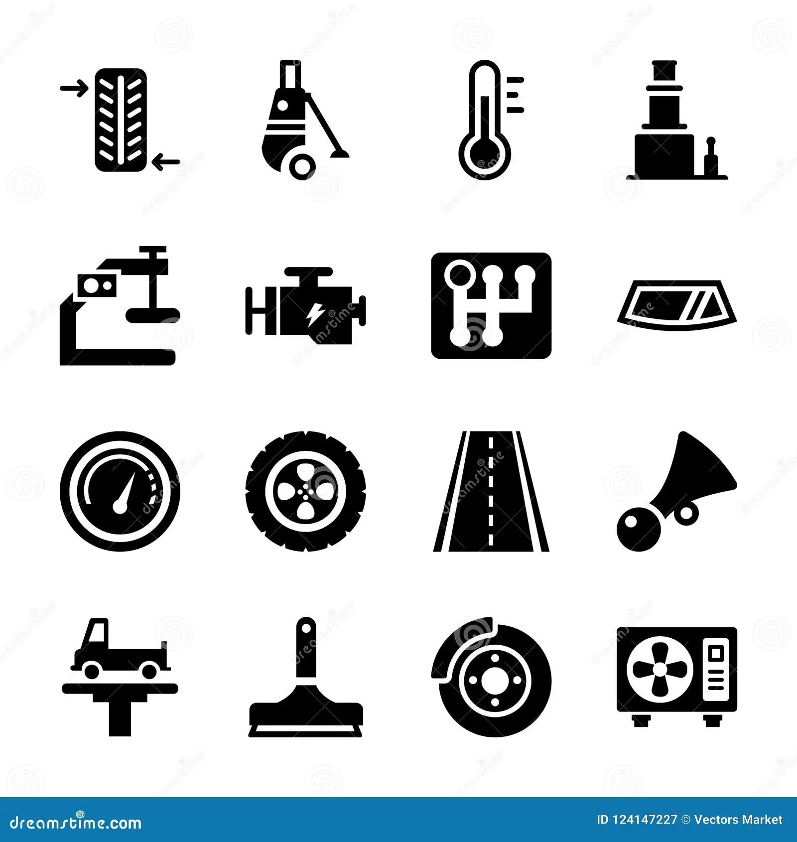 Car Service Icons Stock Illustration Illustration Of