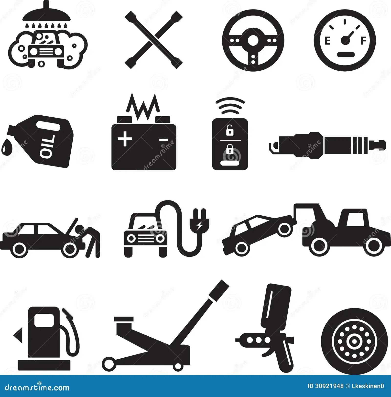 Car Service Icons Royalty Free Stock Photos