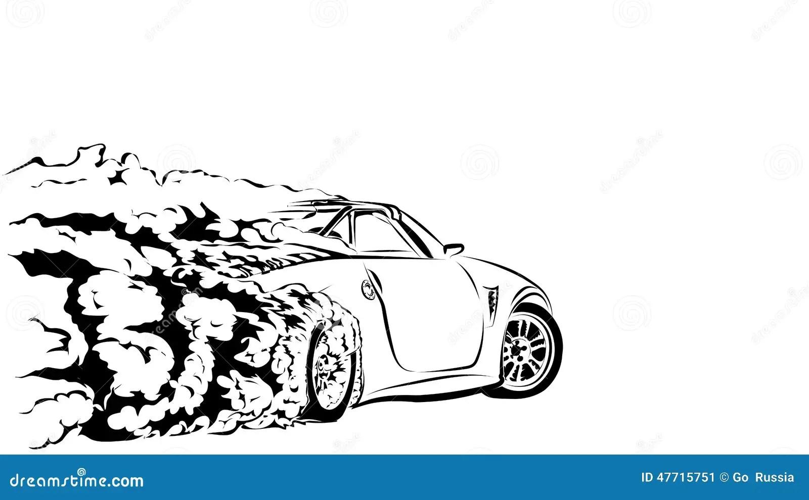 Car Sport Drift Stock Vector