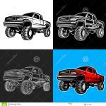 Car Truck 4x4 Pickup Off Road Stock Vector Illustration Of Cool Rubber 68740824