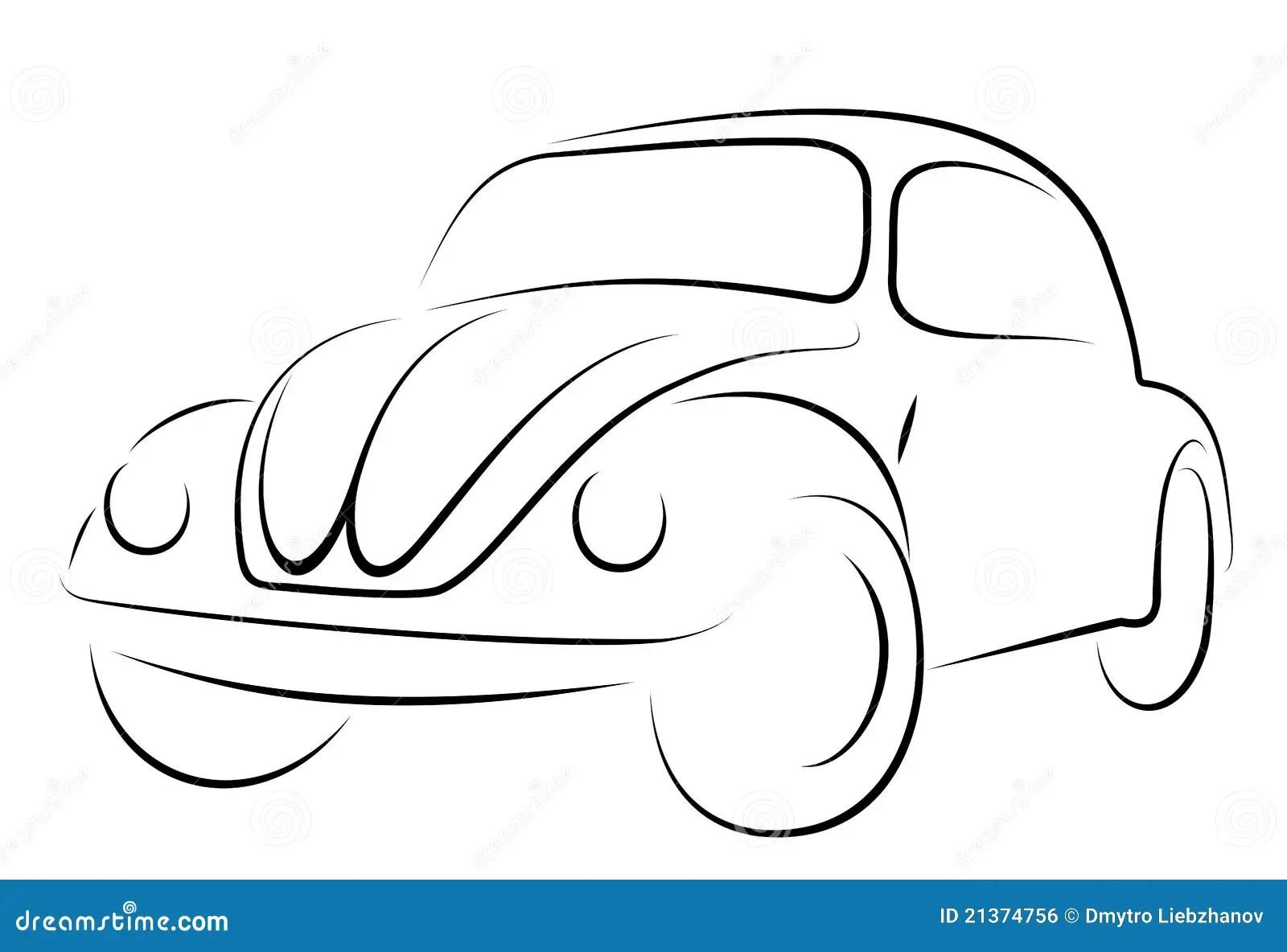 Car Volkswagen Beetle Stock Vector Illustration Of