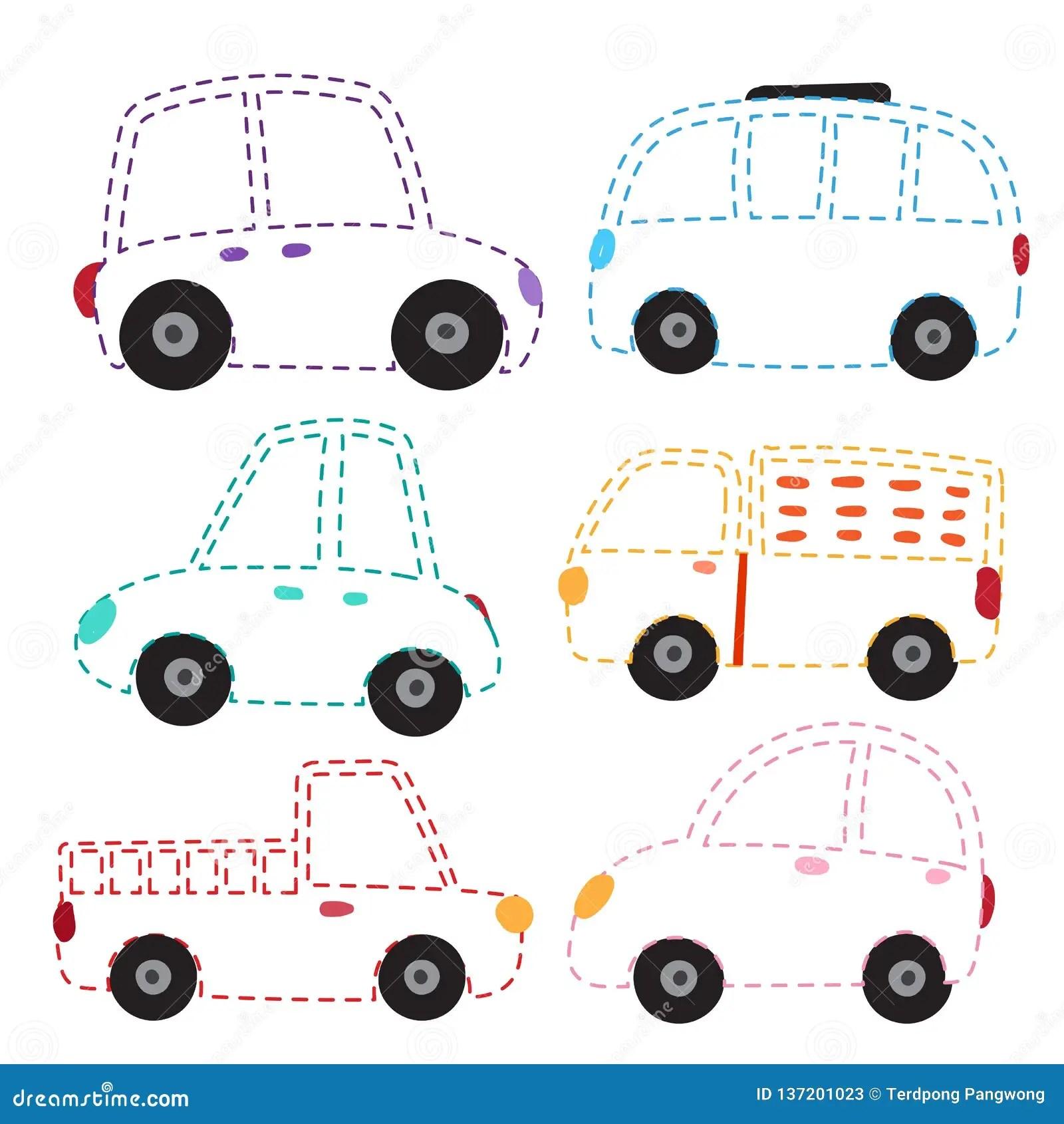 Car Worksheet Vector Design Stock Vector