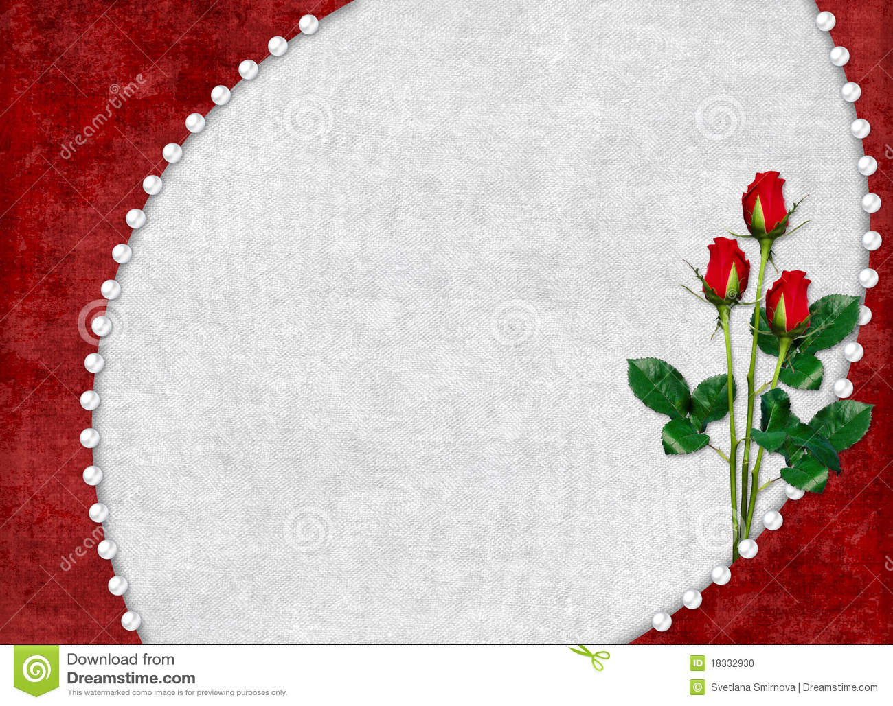 Card For The Holiday With Red Rose Stock Illustration