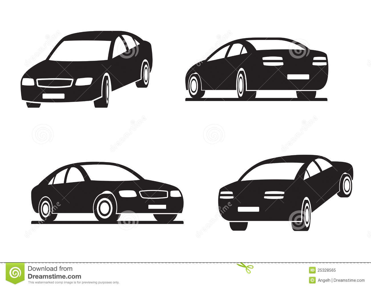 Cars In Perspective Stock Vector Image Of Industry