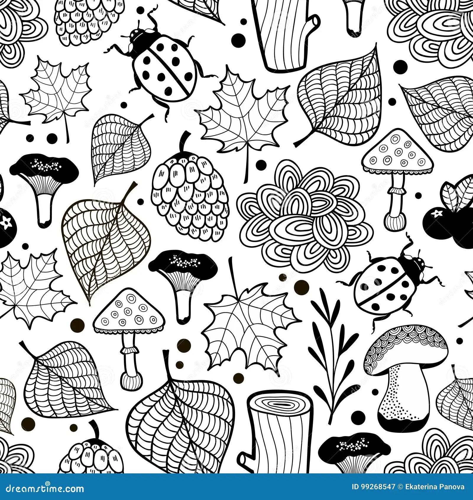 carta da parati verona, bovolone. Carta Da Parati In Bianco E Nero Per Colorare Illustrazione Vettoriale Illustrazione Di Bambini Micro 99268547