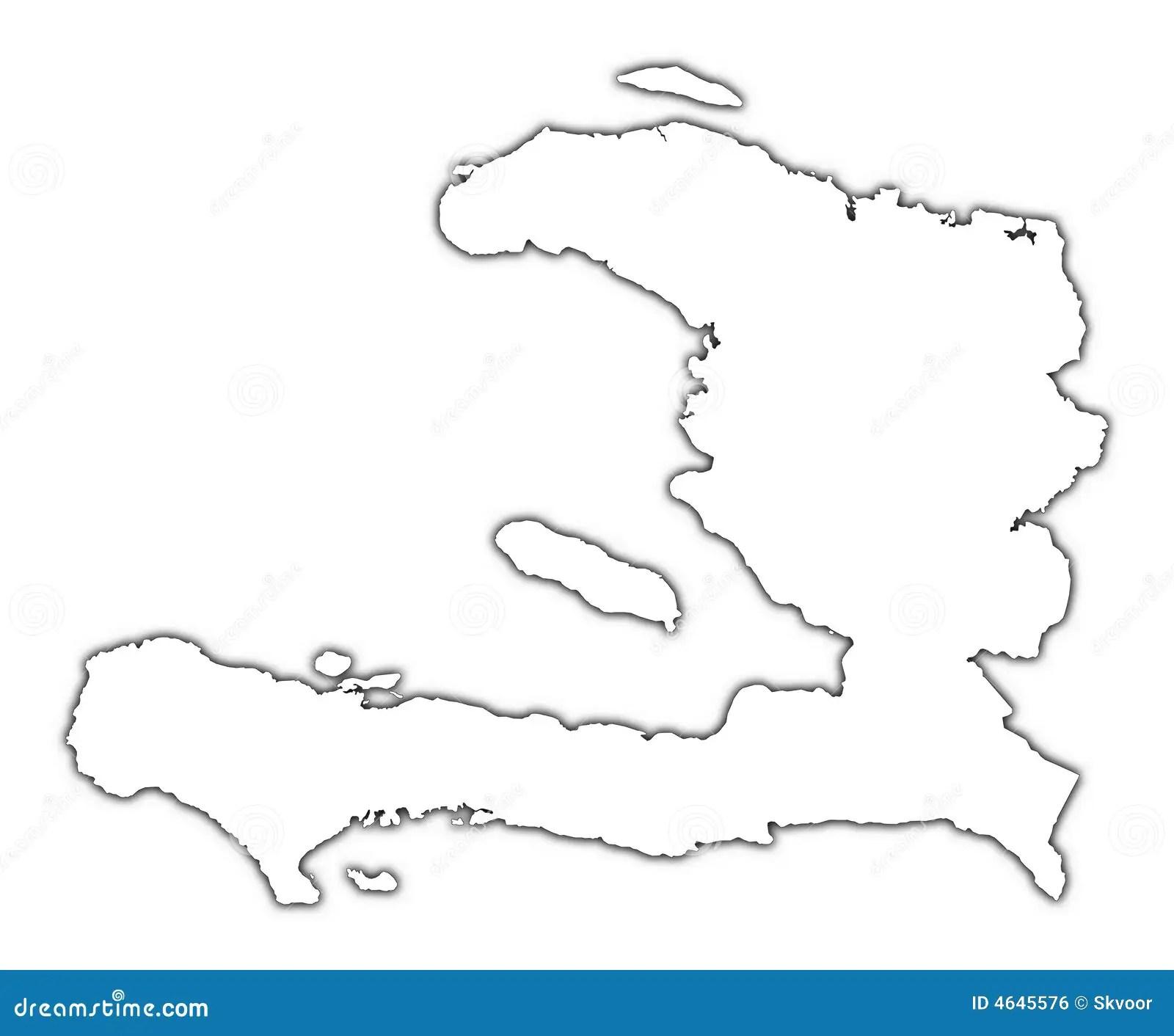 Carte D Ensemble Du Haiti Illustration Stock Illustration