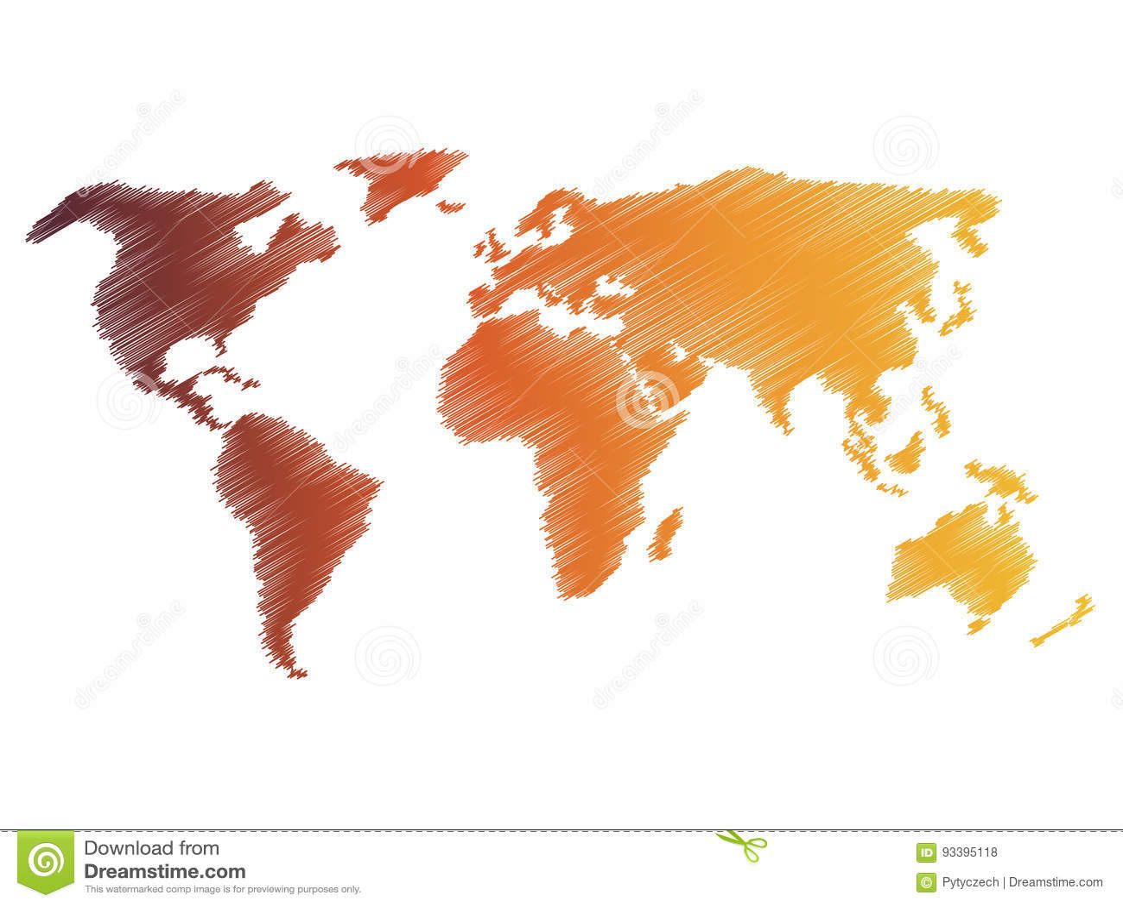 Carte De Croquis De Griffonnage De Crayon De Monde Dessin