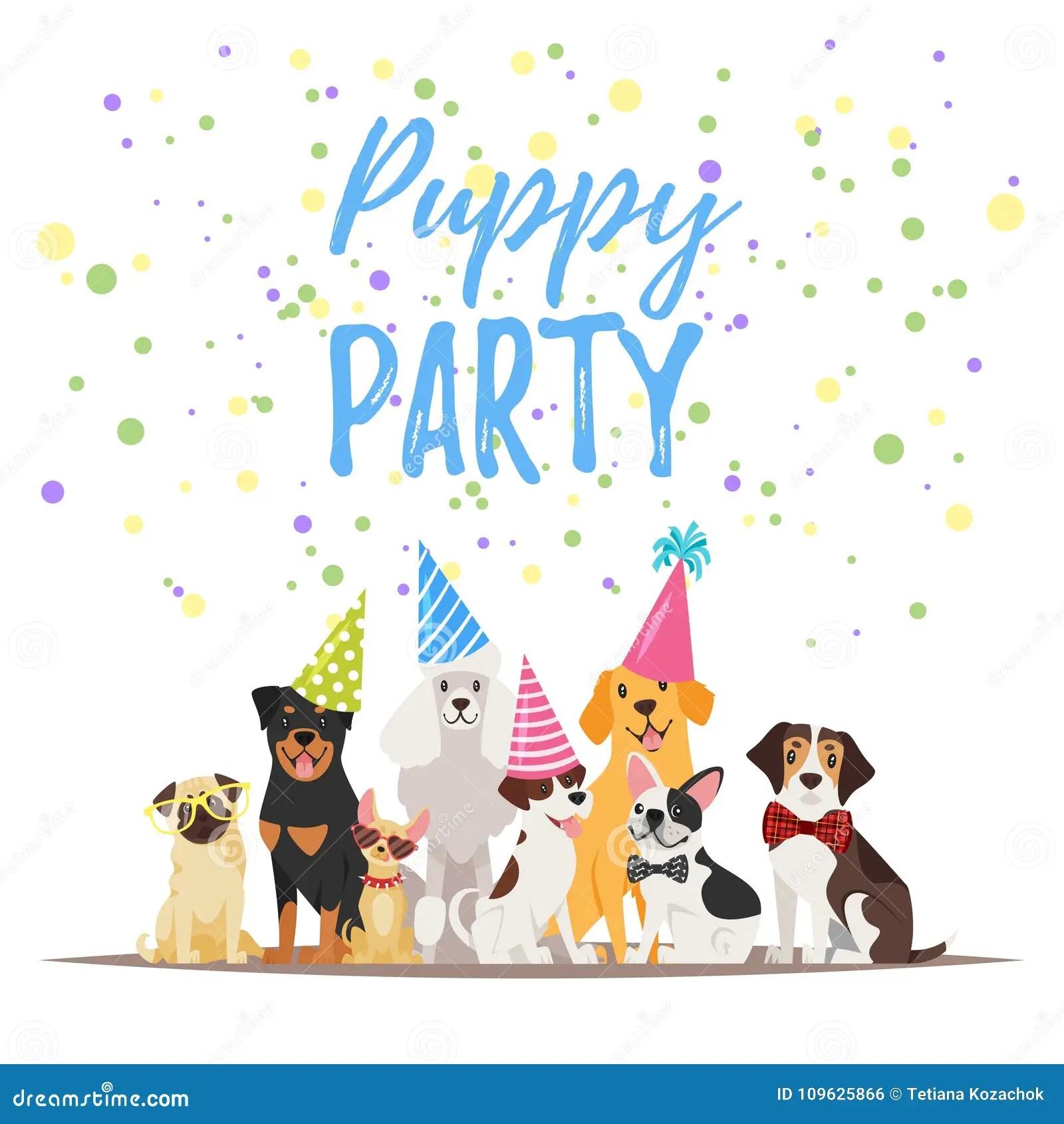 anniversaire de chien illustration