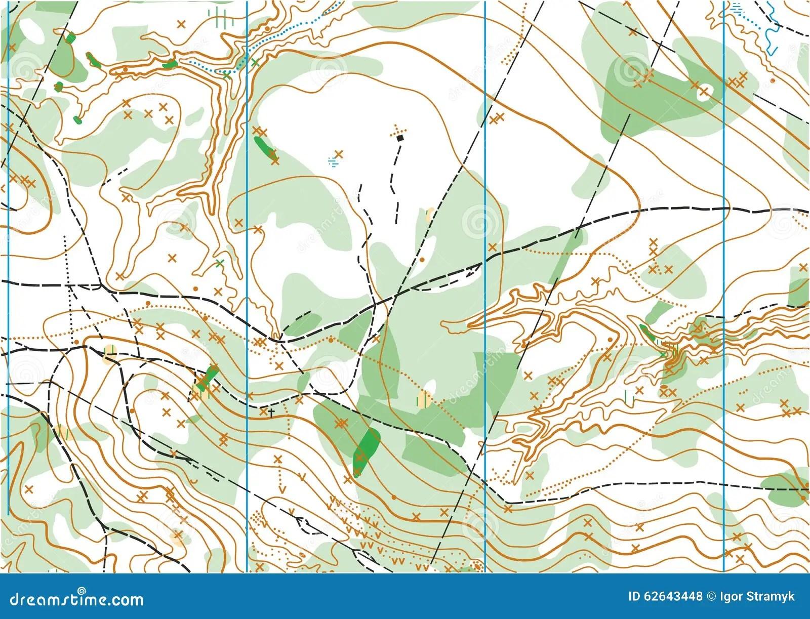 Carte Topographique De Vecteur Illustration De Vecteur