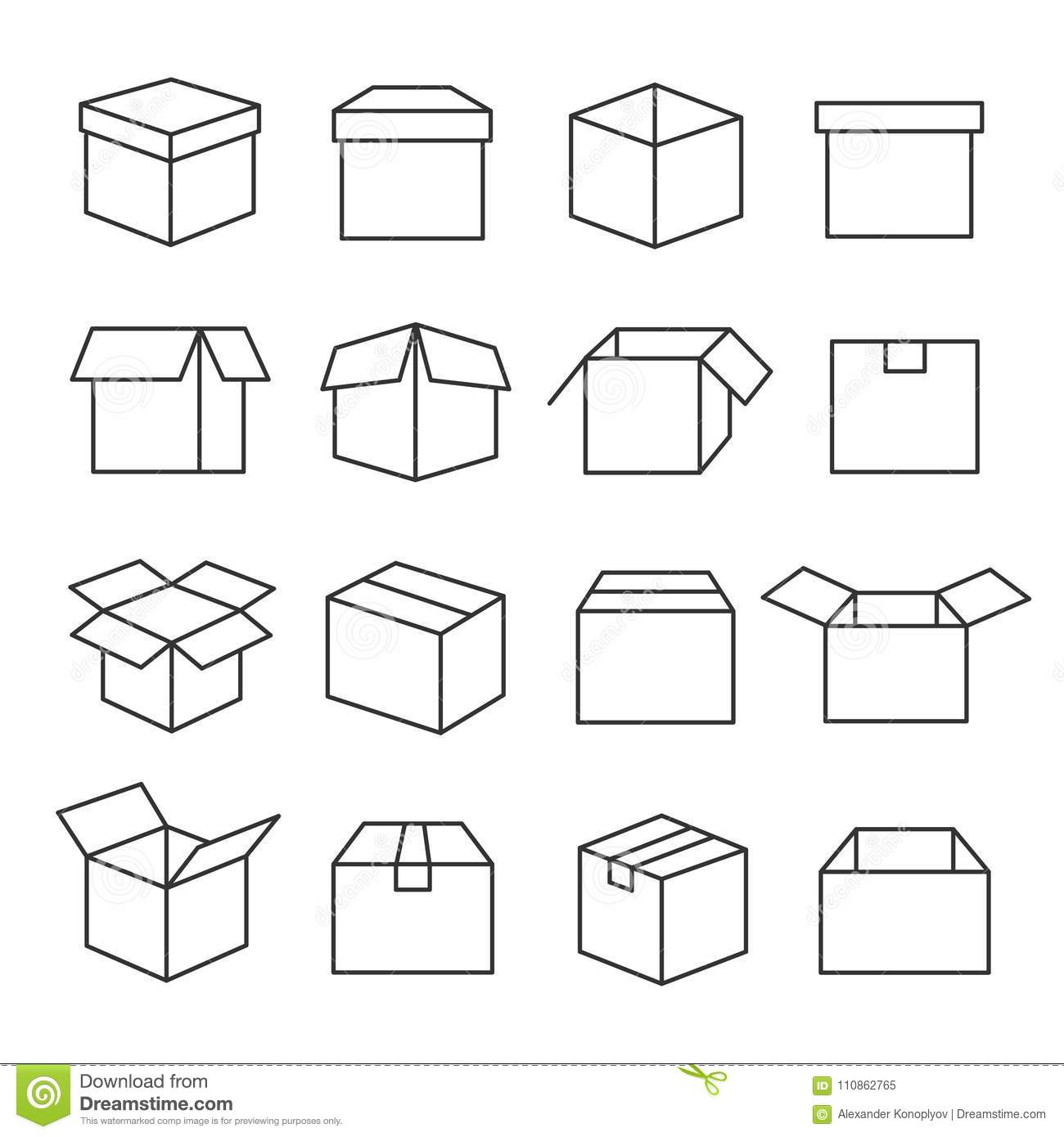 Used Cardboard Boxes Royalty Free Stock Photography