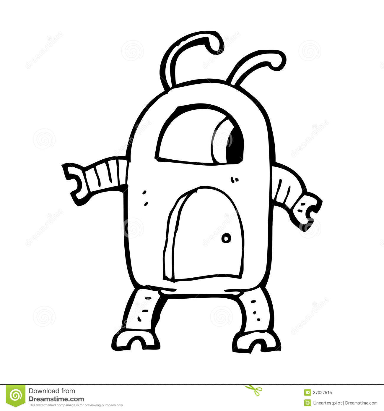 Cartoon Alien Robot Stock Illustration Image Of Cartoon