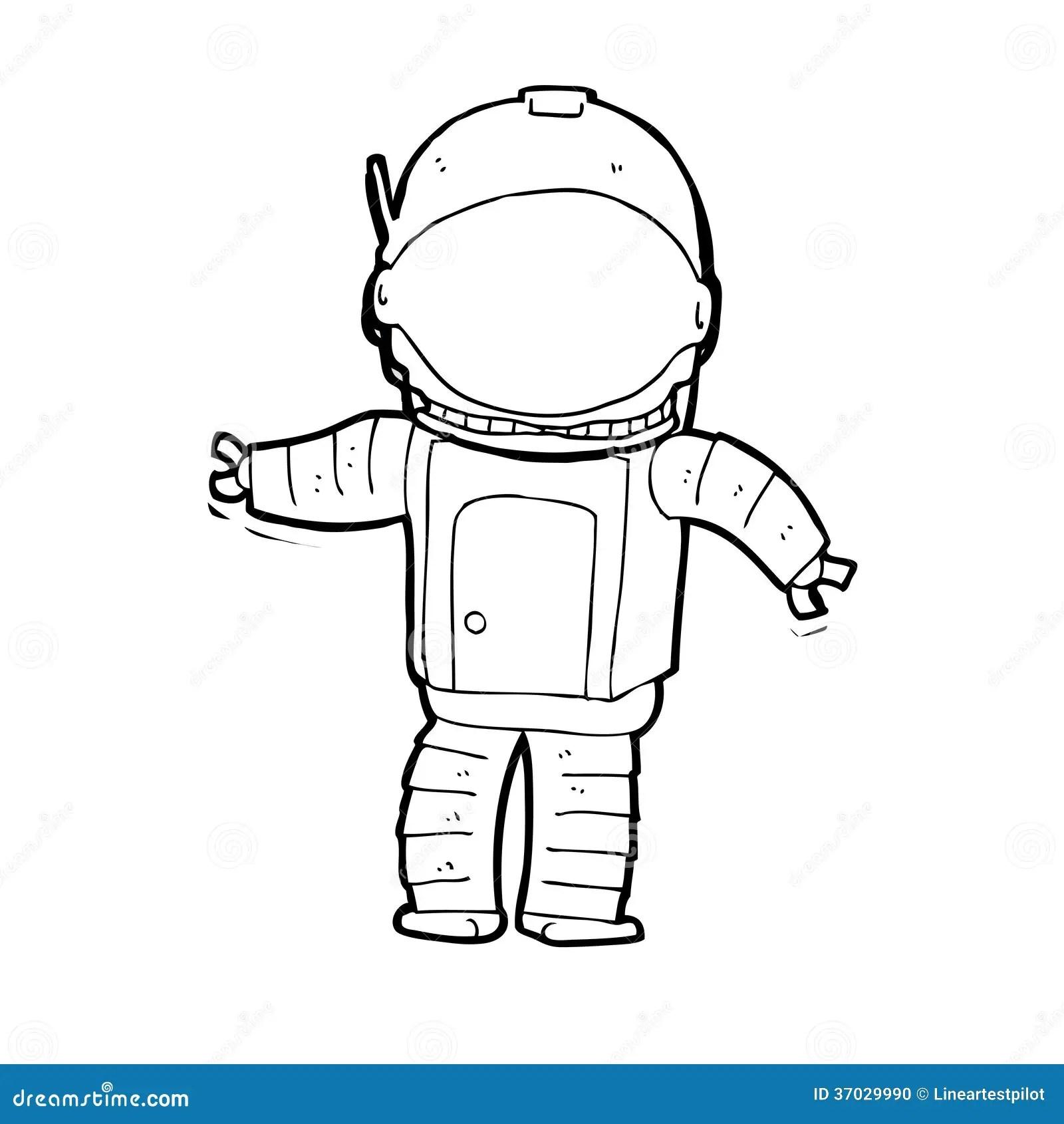 Cartoon Astronaut Stock Illustration Illustration Of