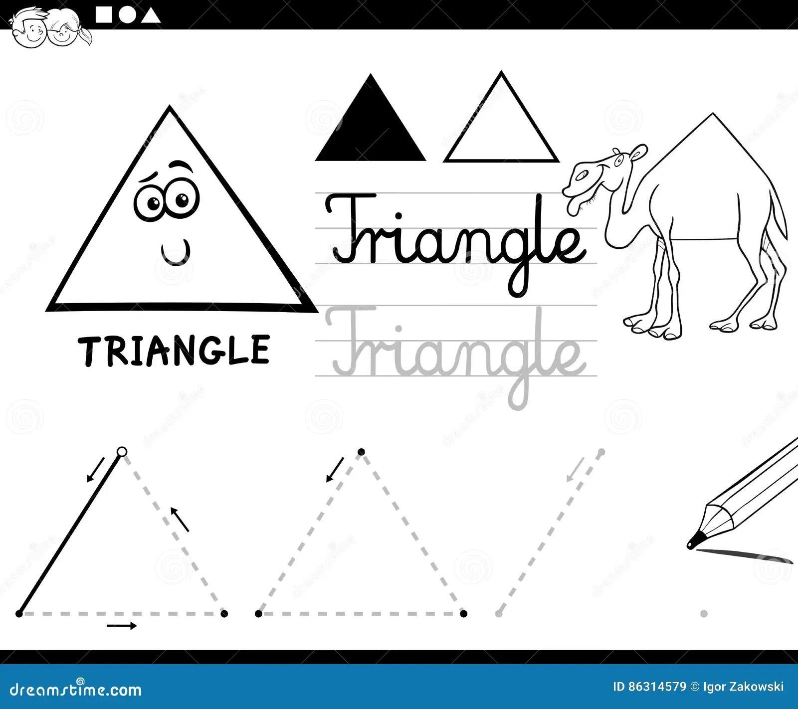 Cartoon Basic Geometric Shapes Stock Vector