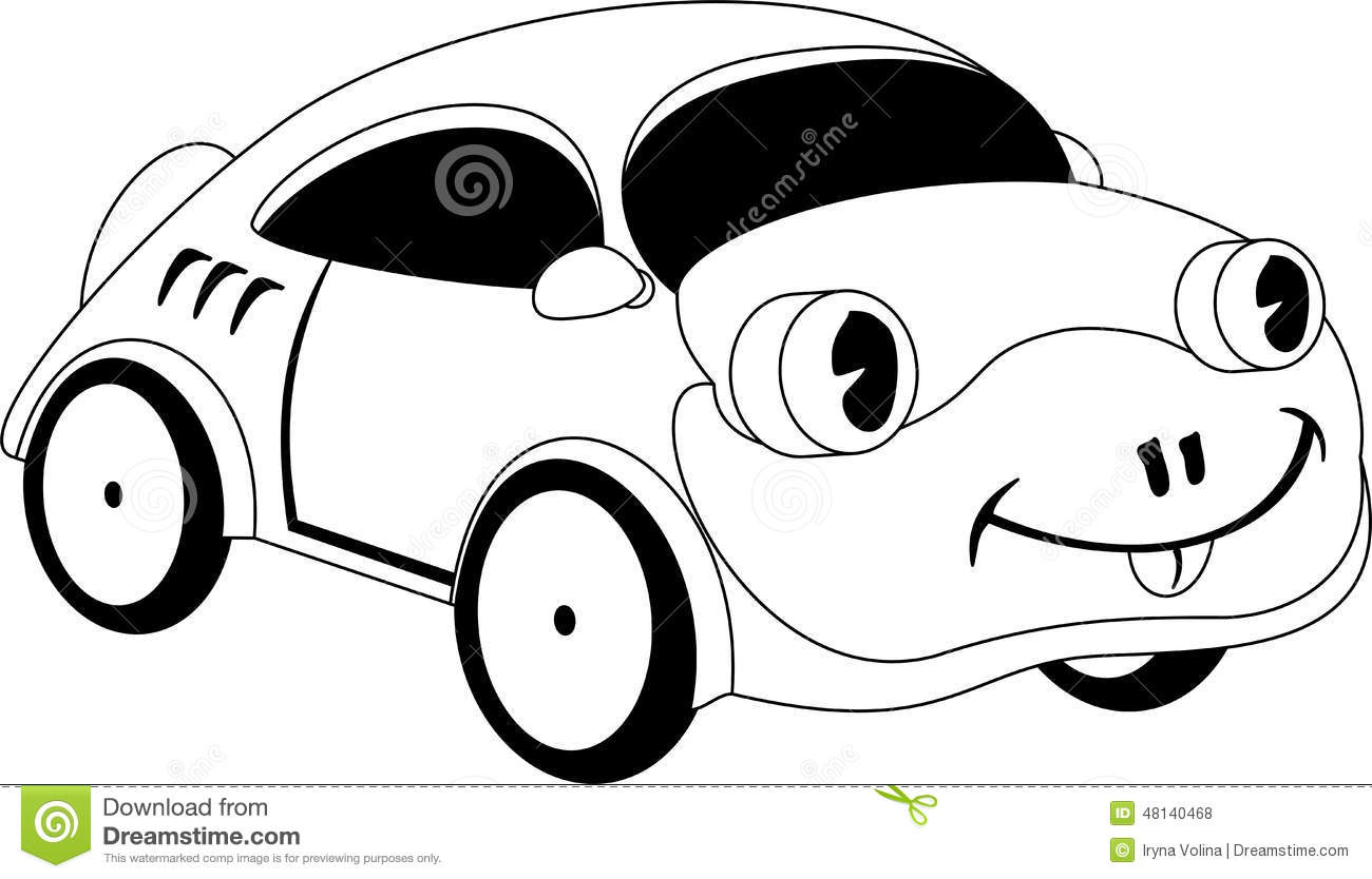 Cartoon Car Stock Vector Illustration Of Sketch Outline