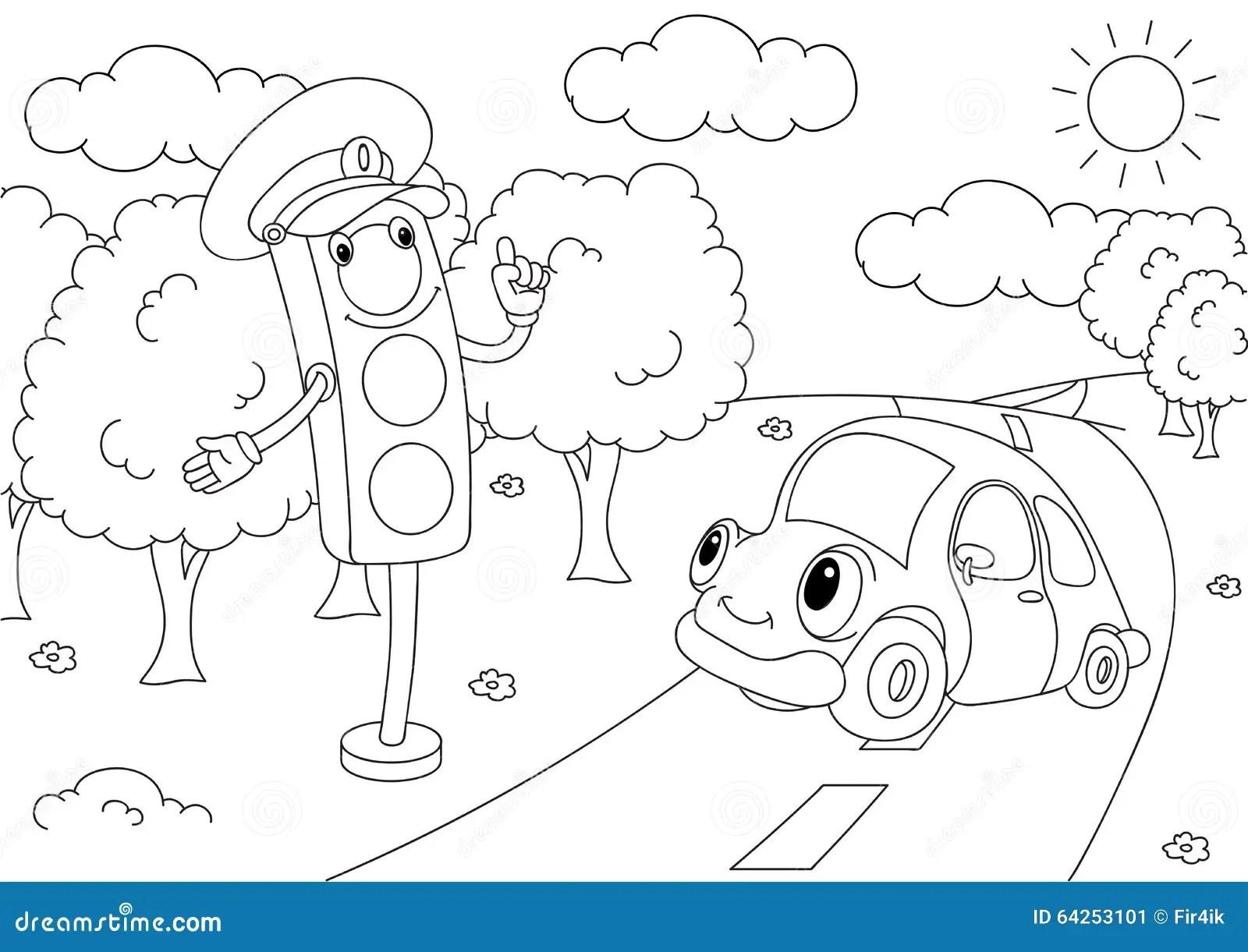 Cartoon Traffic Lights Cartoon Vector