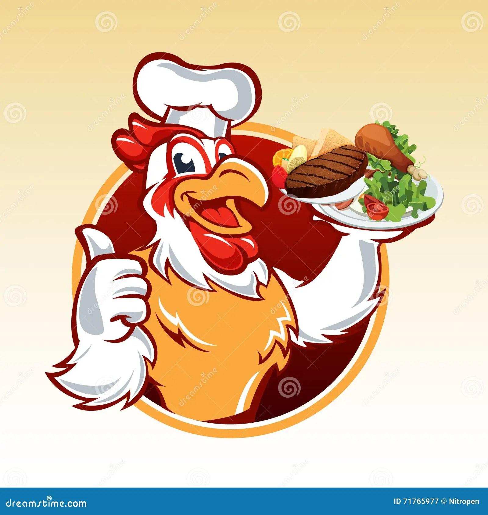 Chicken Chef Cartoon Hat