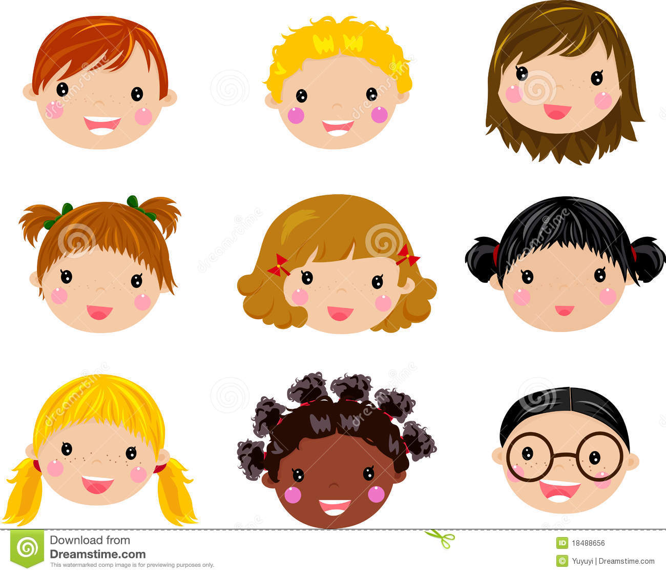 Cartoon Children Face Stock Vector Illustration Of School
