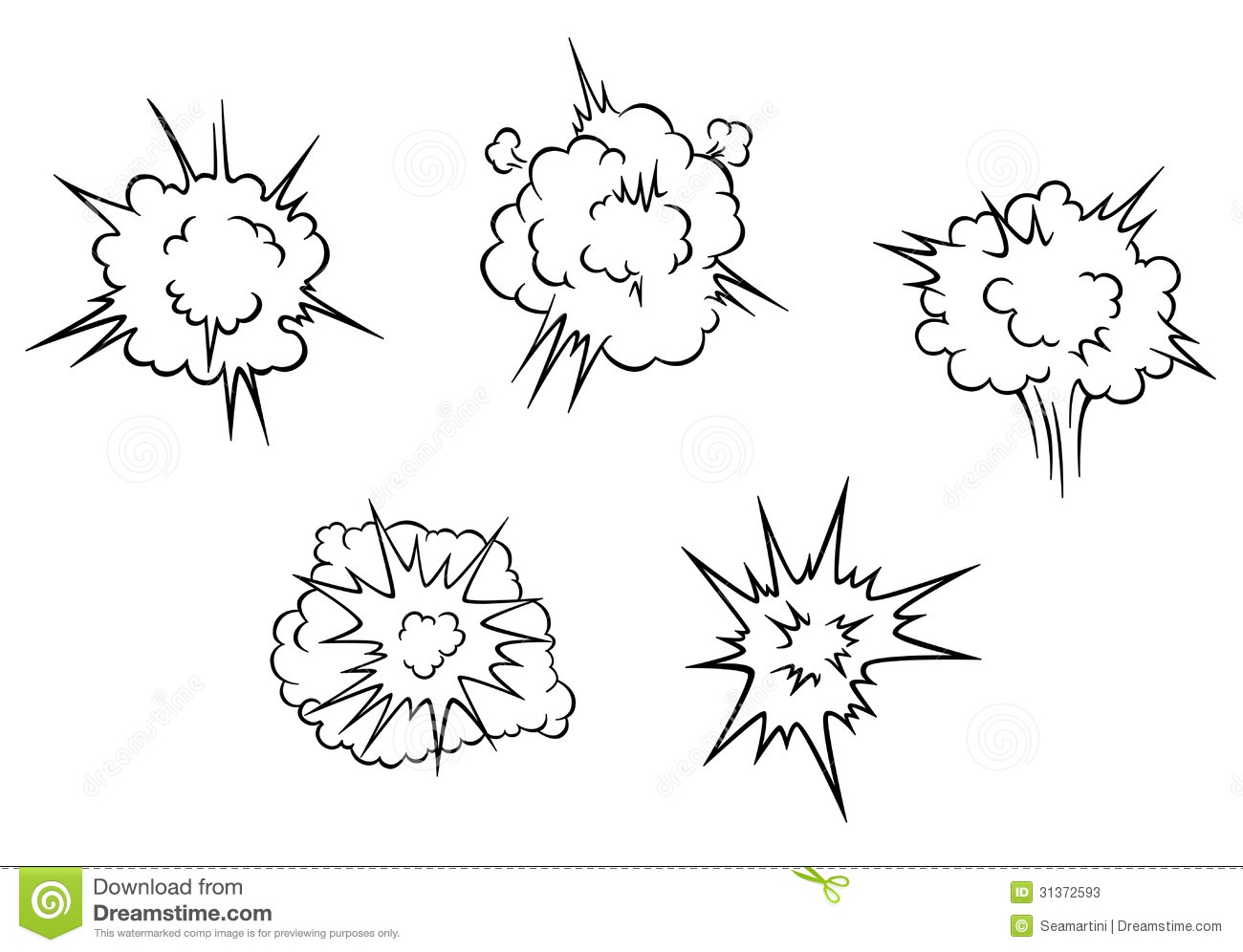 Cartoon Clouds Of Explosion Stock Vector