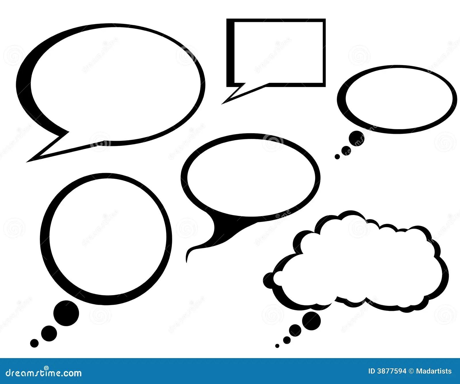 Cartoon Comic Talk Bubbles Clip Art Stock Images