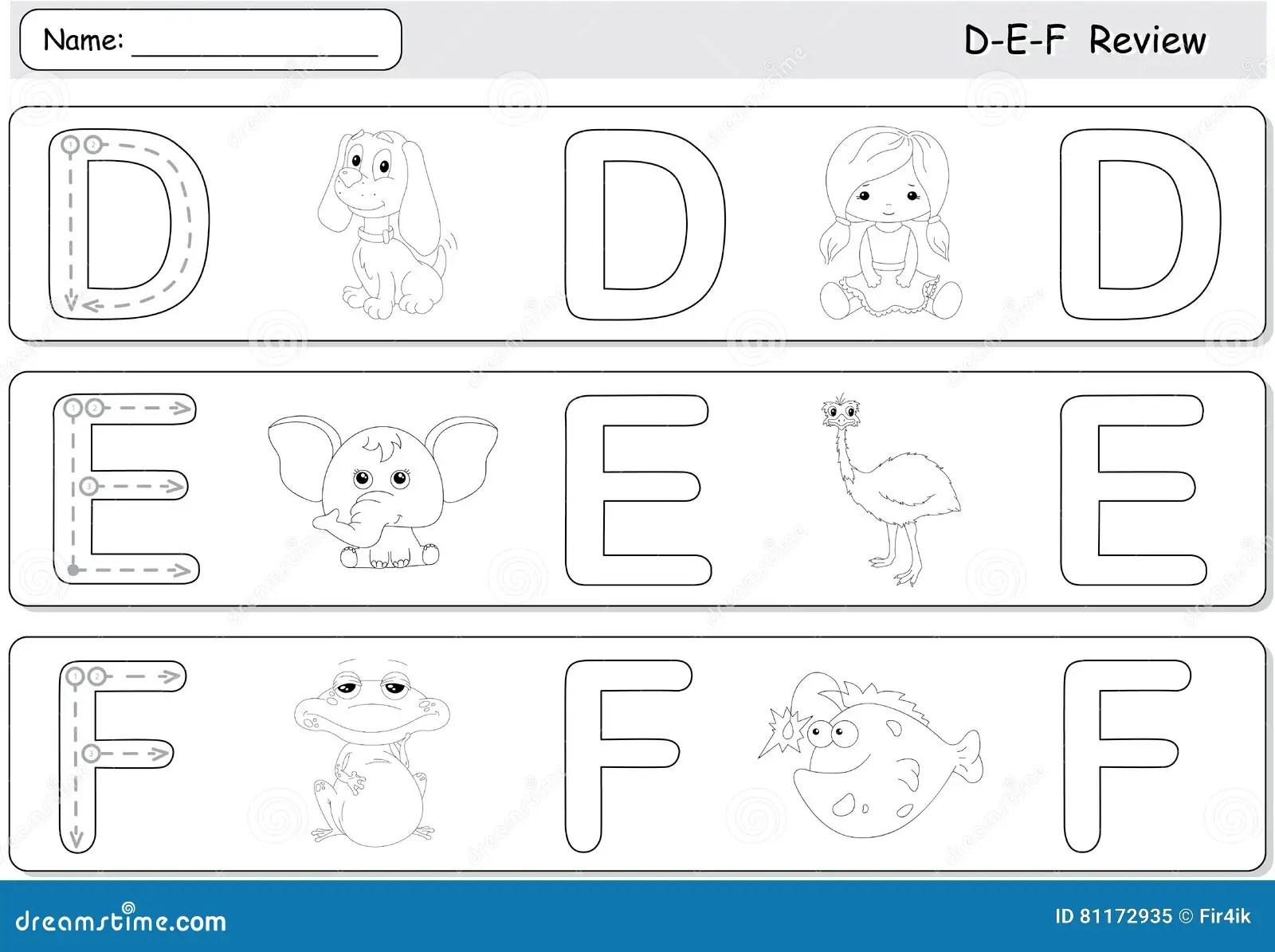 Cartoon Dog Doll Elephant Emu Frog And Fish Alphabet