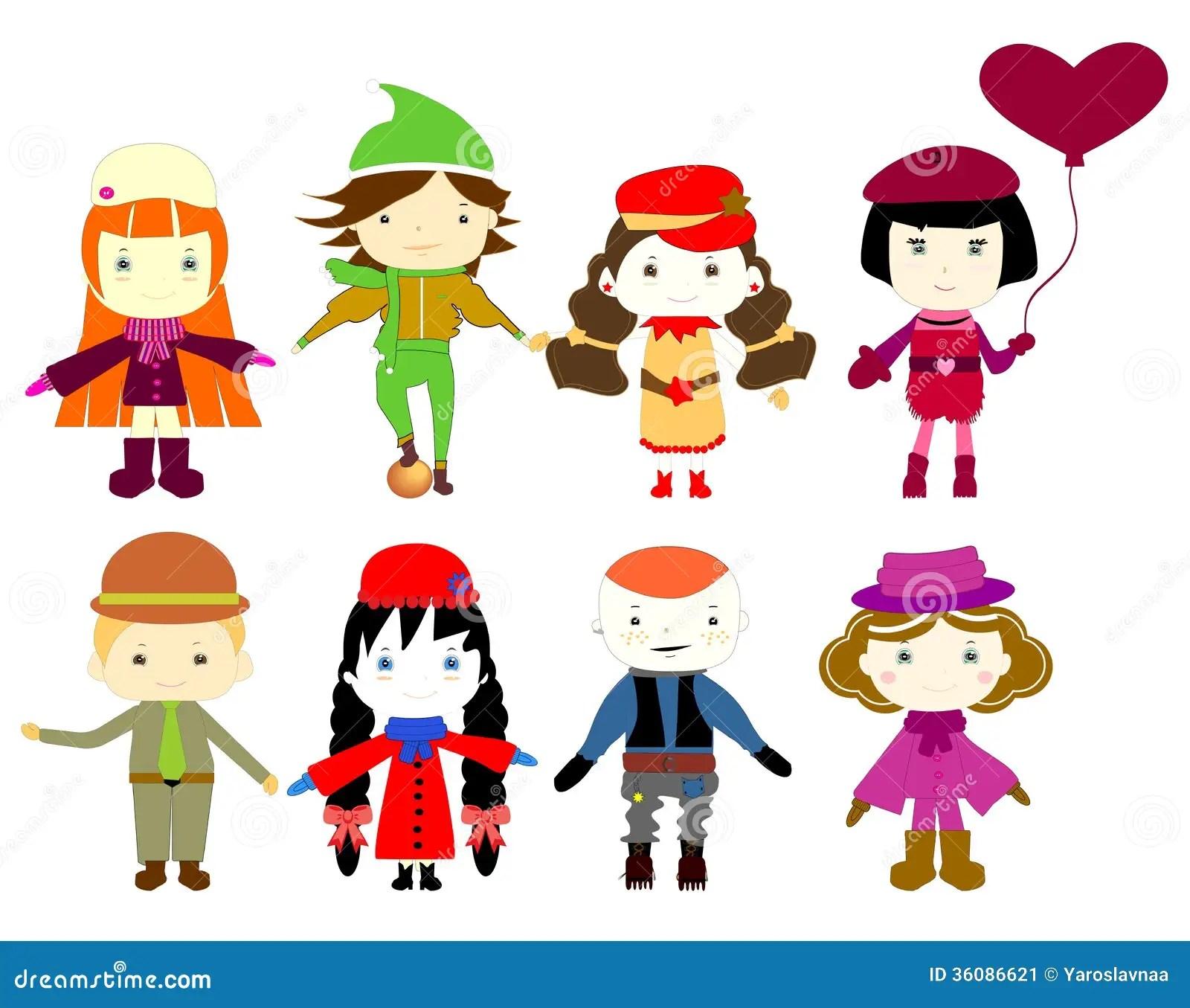 Cartoon Drawings Of Children Stock Image