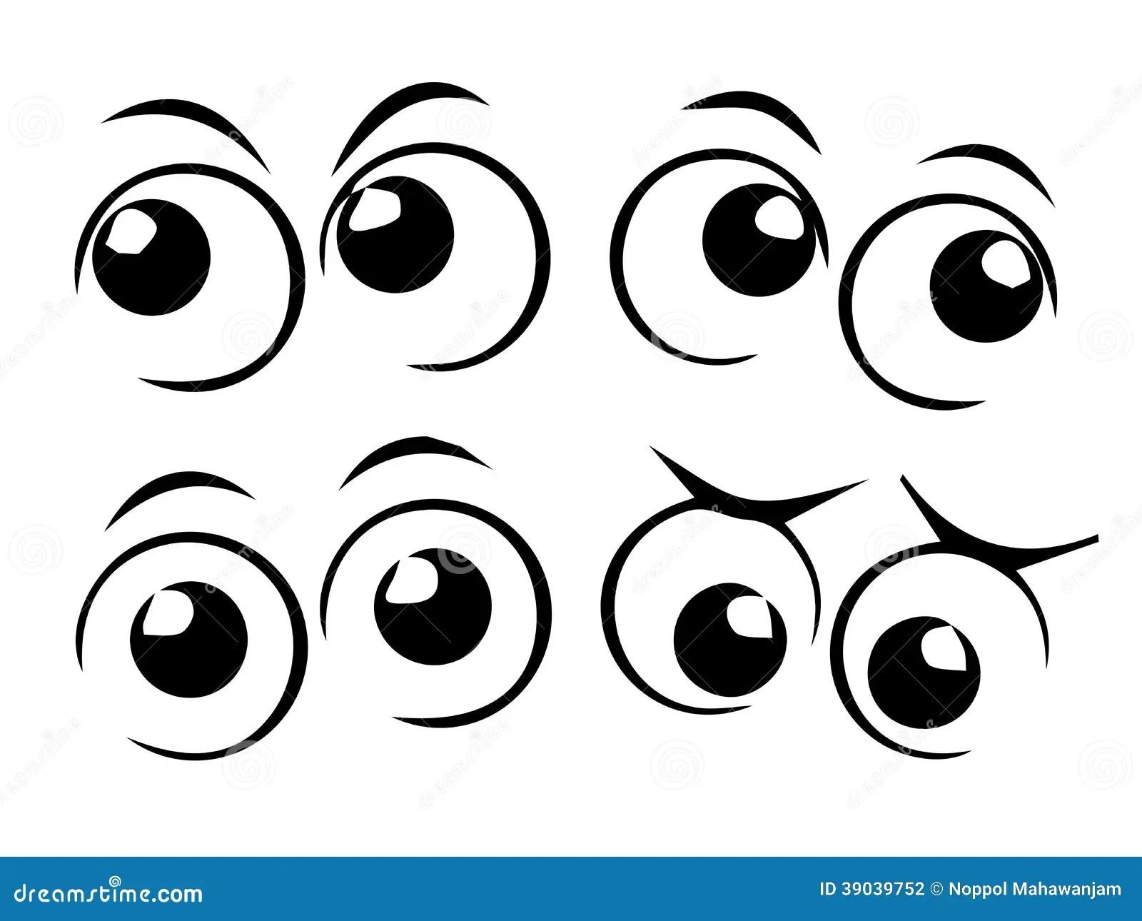 Cartoon Eyes Stock Vector Illustration Of Gaze Stare