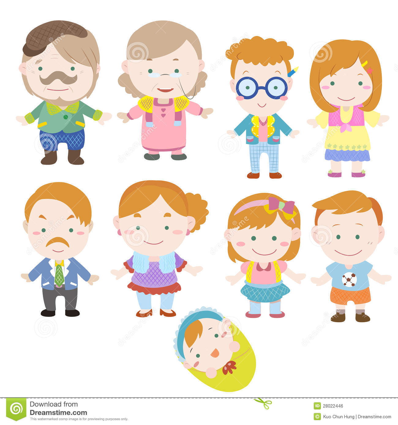 See family tree drawing stock video clips. Cartoon Family Icon Royalty Free Stock Image - Image: 28022446