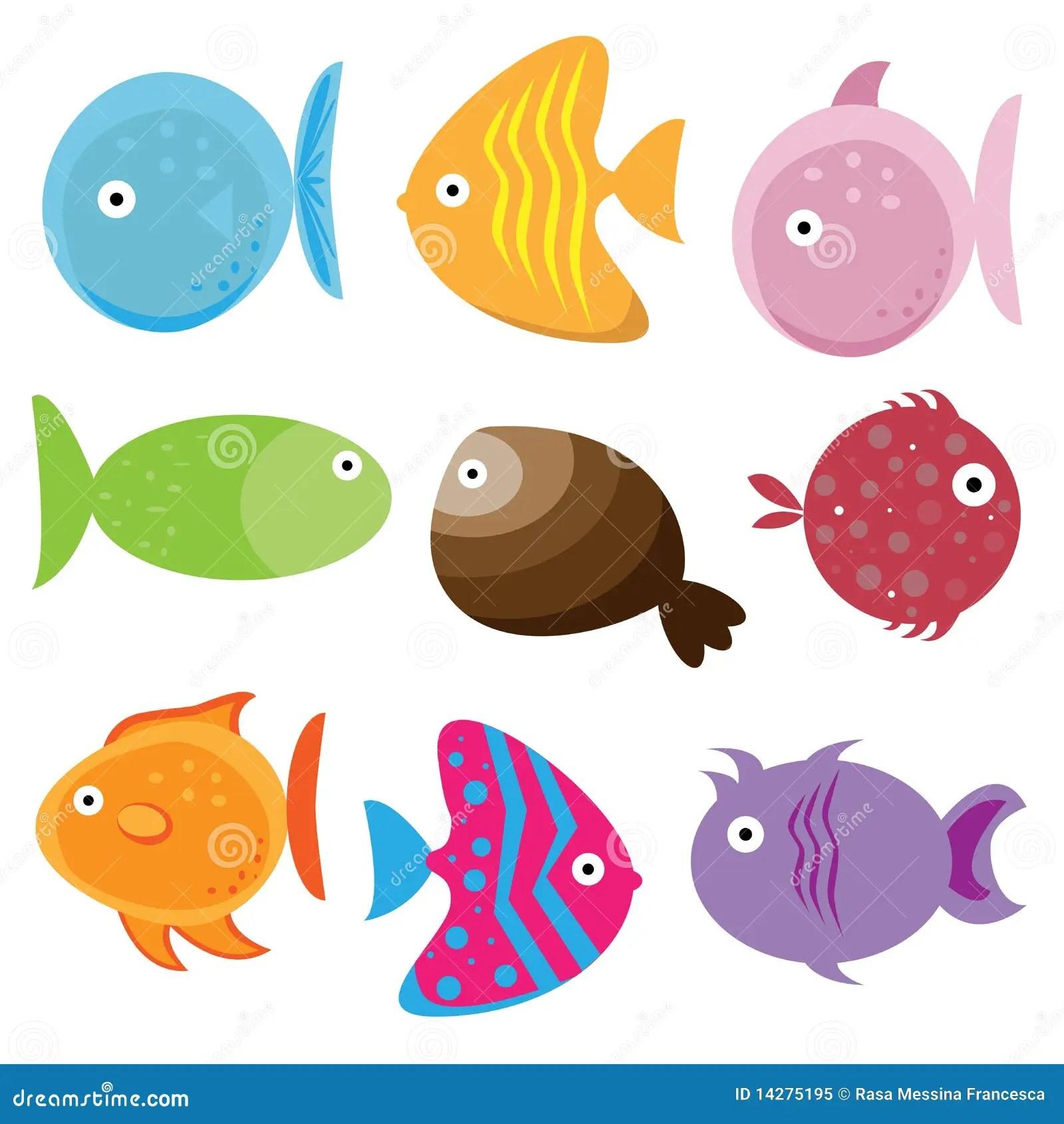 Cartoon Fishes Cartoon Vector