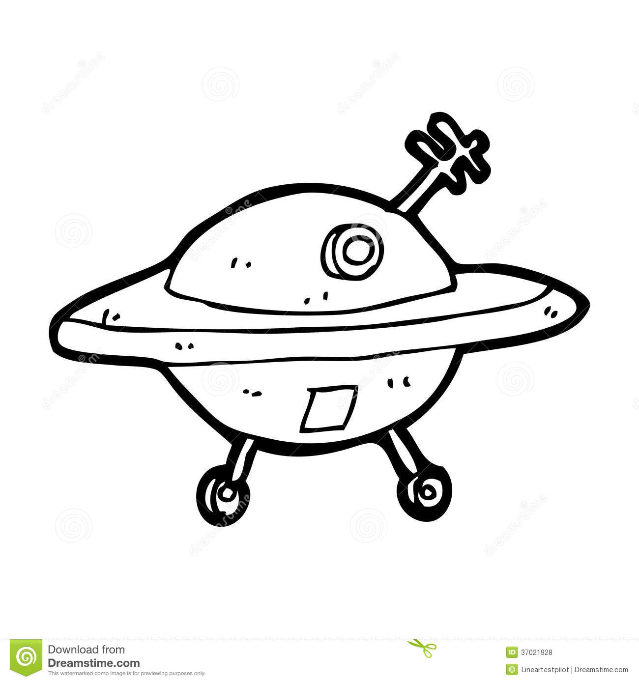 Cartoon Flying Saucer Stock Illustration Illustration Of