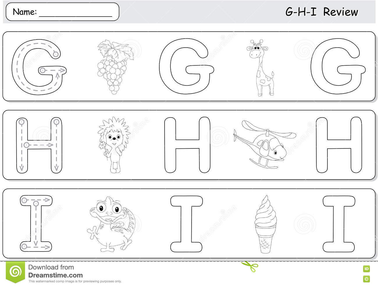 Cartoon G S Giraffe Hedgehog Helicopter Ice Cream